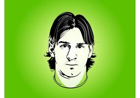Lionel Messi Porträt vektor