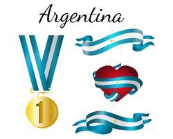 Argentinien-Medaillen-Band-Flagge vektor