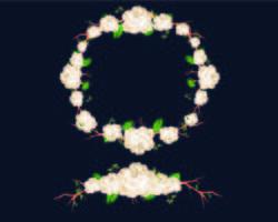 Blommig vit krans vektor