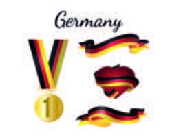 Tyskland Medalj Flagga vektor