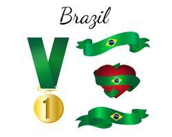 Brasilien-Band-Flagge vektor