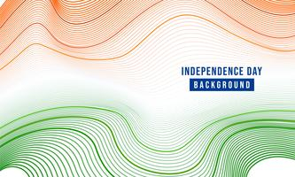 festlig illustration av självständighetsdagen i Indiens firande den 15 augusti
