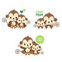Mama und Baby Affe.
