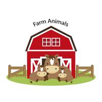 Glada gårdsdjur. vektor