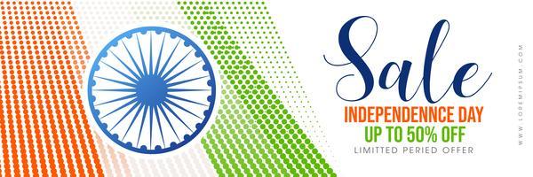 Kreativ försäljningsaffisch för att fira den indiska självständighetsdagen