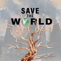 Save the World Global Warming Social Media-annons vektor