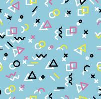 Sameless Muster der geometrischen Memphis-Art des Hippies vektor