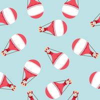 Heißluftballon mit Santa Claus Muster