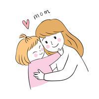mamma och dotter vektor