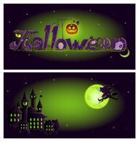 Halloween Banner Vorlage vektor
