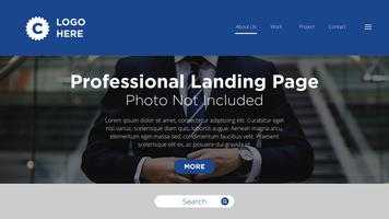 Professionelle Landing Page vektor