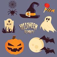 Halloween Elements-Auflistung vektor