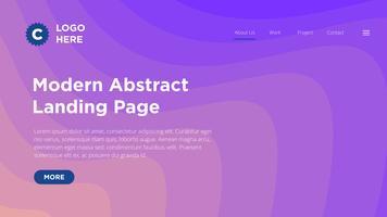 Moderne abstrakte Landing Page