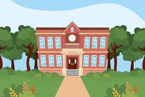 Utanför skolbyggnaden vektor