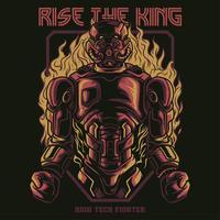 design för t-shirt för brandrobotillustration