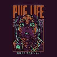 Bulldoggenvektorillustrations-T-Shirt Design