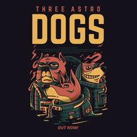 design för tshirt för hundvektorillustration