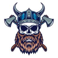viking skalleillustration