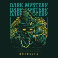 mystisk manillustration tshirt design