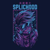 moderner Schimpansenvektorillustrations-T-Shirt Entwurf