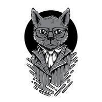 Swagtierschwarzweiss-Illustrationst-shirt Entwurf