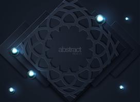 Mörk abstrakt bakgrund med svarta överlappningslager
