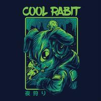 design för tshirt för kaninvektorillustration