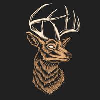 hjort huvud vektor