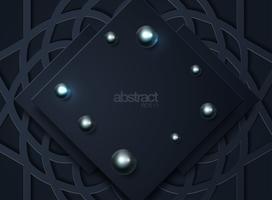 Dunkler abstrakter Hintergrund mit schwarzen Deckschichten vektor