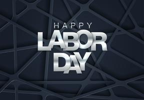 Geometriska Labor Day Card
