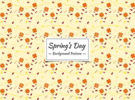 Vårens sömlösa mönster med små orange blommor