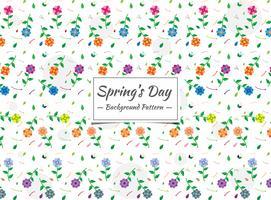 Vårens sömlösa färgglada blommönster