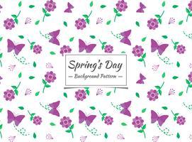 Vårens sömlösa mönster med lila blommor