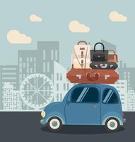Minibil i staden vektor
