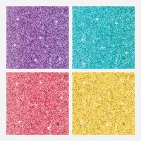 Uppsättning färgade glänsande glitterbakgrunder vektor