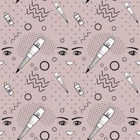 Nahtloses Muster der Ausrüstung für dauerhaftes Make-up vektor