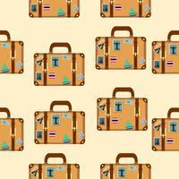 Koffer mit Aufklebern Muster vektor