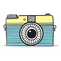Handritad klotter för retro kamera