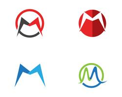 M Letter Logo Business Mall Mall Vector