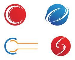 C Letter Logo Vorlage Vektor festgelegt