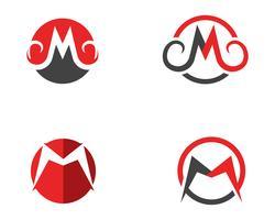 M bokstäver Ikonuppsättning vektor