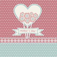 Lyckliga mors dagskort med blommor vektor