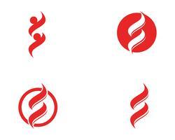 S-Logo Geschäftsvektorsätze vektor