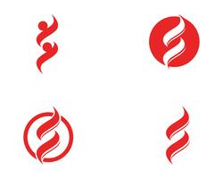 S logotyp affärsvektoruppsättningar vektor