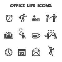 kontorsliv ikoner vektor