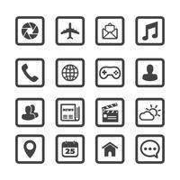 Symbole für mobile Anwendungen vektor