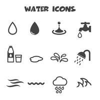 vatten ikoner symbol vektor