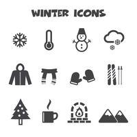 vinter ikoner symbol