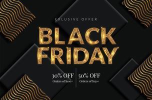 Golden Black Friday Sale bakgrund
