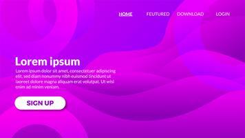 Violetter purpurroter Wellenhintergrund der abstrakten modernen Steigung